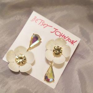 Betsey Johnson flower earrings